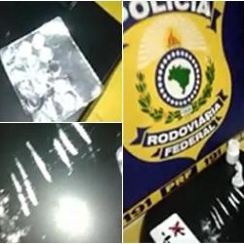 Condutor de Bitrem roubado é detido com anfetaminas e cocaína
