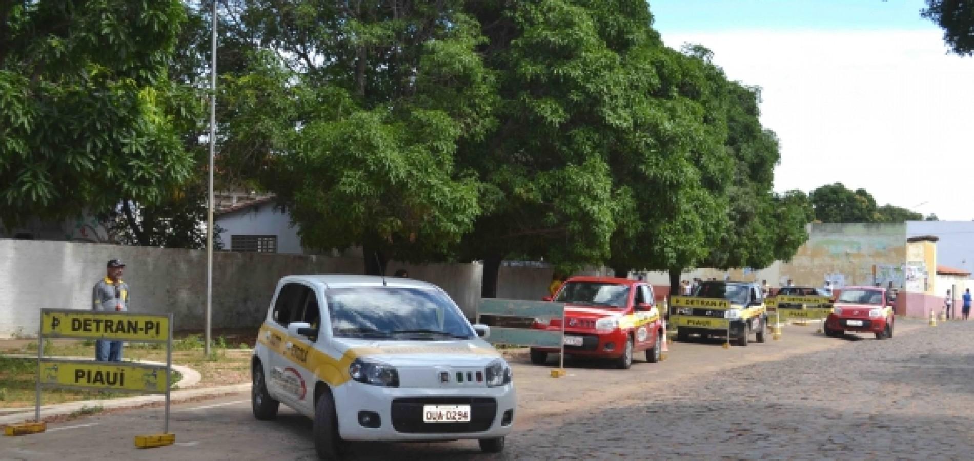 Detran realiza 4.400  exames práticos em Fronteiras e outras 12 cidades do Piauí
