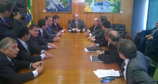 Wellington Dias se reúne com Renan Calheiros e Eduardo Cunha