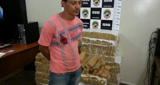 Piauiense preso com meia tonelada de maconha em um veículo roubado