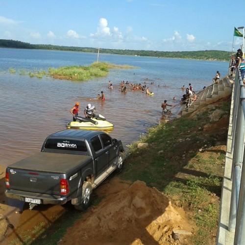 PATOS | Com 85% de sua capacidade de armazenagem, barragem Poço de Marruá atrai turistas; veja fotos