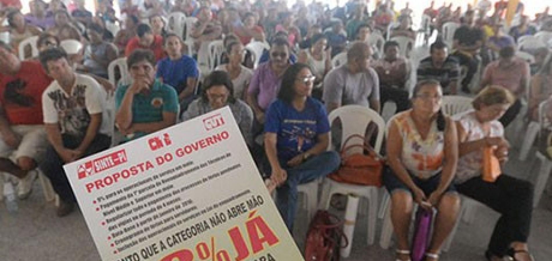 Servidores da educação deflagram greve geral a partir de segunda-feira