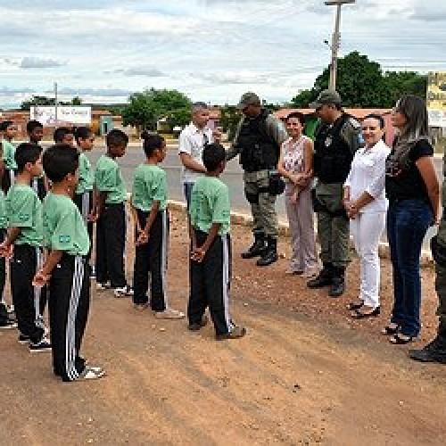 Polícia Militar em São João do Piauí promove aula inaugural do Projeto Pelotão Mirim