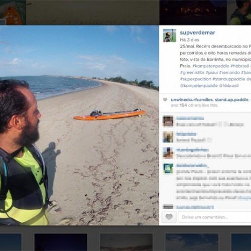 Aventureiro rema 2.500 km do Sul do Brasil ao Piauí em um stand up paddle