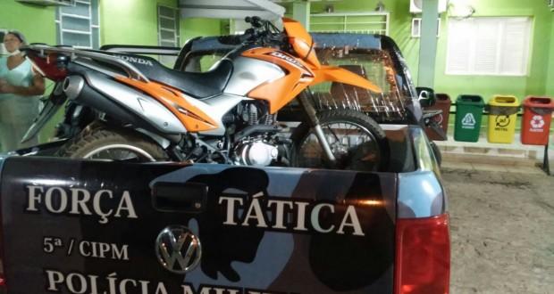 Força Tática de Paulistana captura dupla e põe fim a série de furtos de motos na cidade
