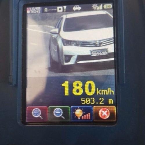 Motorista é flagrado trafegando a 180 km/h na BR-343, Norte do Piauí