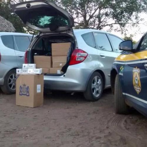 Dois veículos são apreendidos com carga de cigarro contrabandeada no Piauí