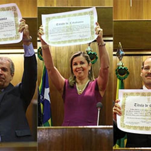 Família Claudino recebe título de cidadania piauiense na Assembleia