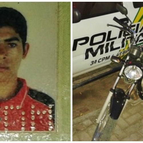 Moto roubada é recuperada e condutor preso pela Polícia Militar em Jaicós