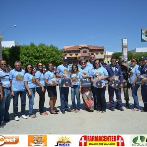 Campanha de educação no trânsito abre a programação do aniversário de Simões; fotos