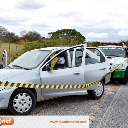 Carro utilizado no furto ao Bradesco de Padre Marcos é abandonado