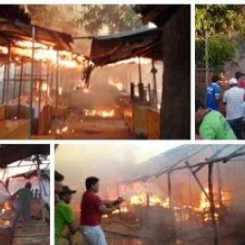 Incêndio destrói mercado público da cidade do Piauí