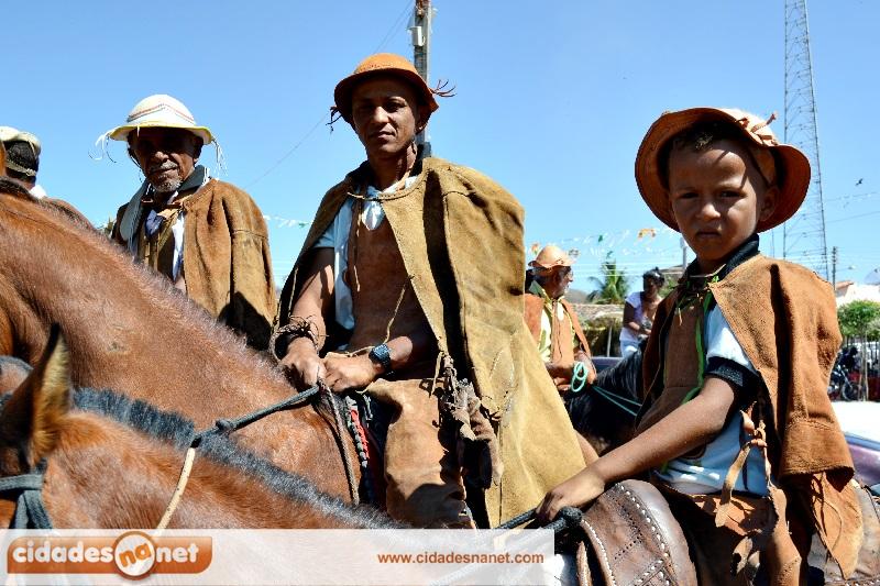 João da Cruz, filho e neto na cavalgada