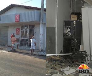 Agência do Bradesco é dinamitada durante a madrugada no Piauí; fotos!