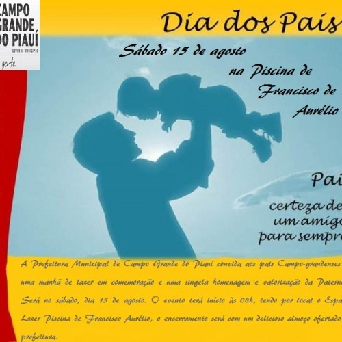 Prefeitura de Campo Grande do Piauí realizará dia de Lazer em homenagem aos pais