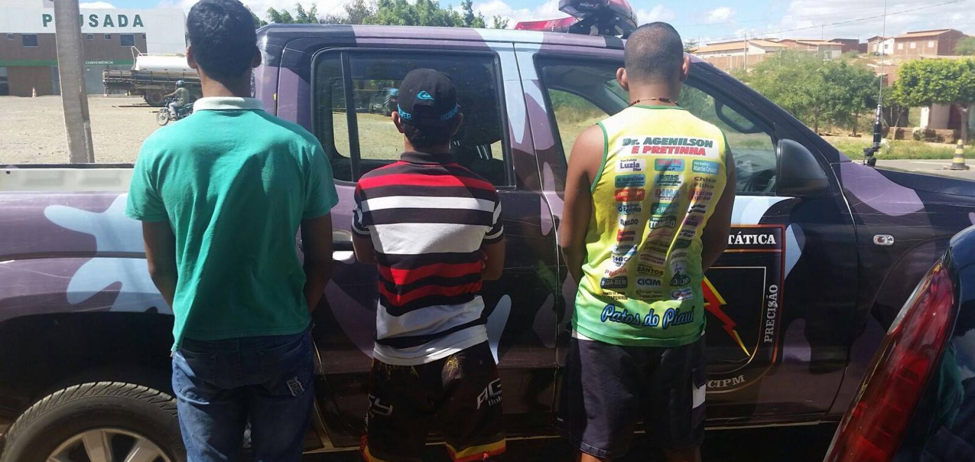 Força Tática de Paulistana apreende trio de menores que ostentava armas em redes sociais