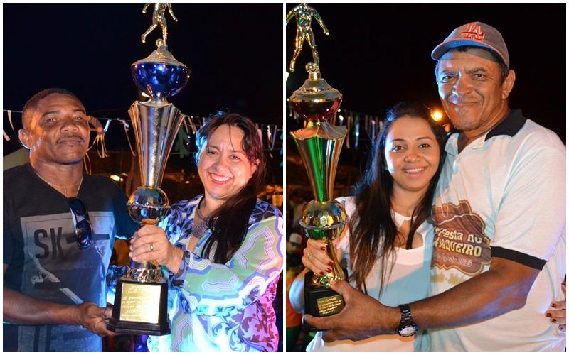 Premiação dos vencedores do Campeonato de Futebol