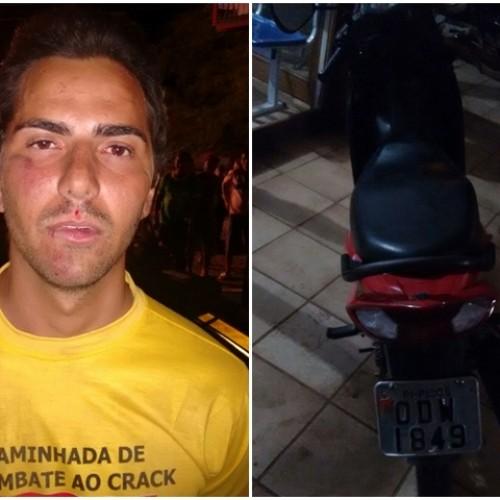 Assaltante é preso em blitz com motocicleta roubada em Picos