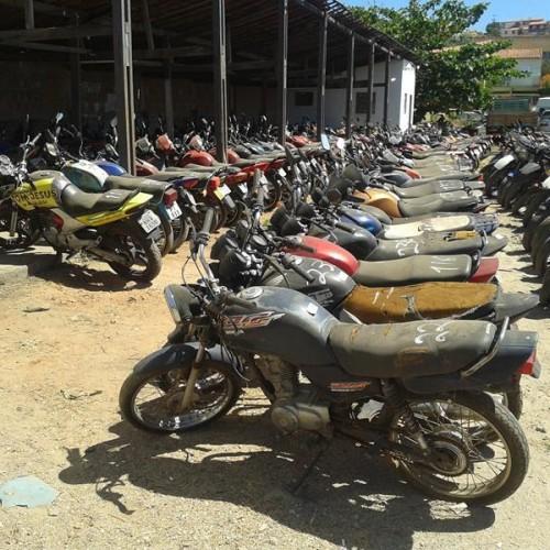 Detran leiloa 175 motocicletas neste sábado (28)