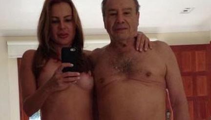 Vazam fotos íntimas do ator Stênio Garcia ao lado de sua esposa