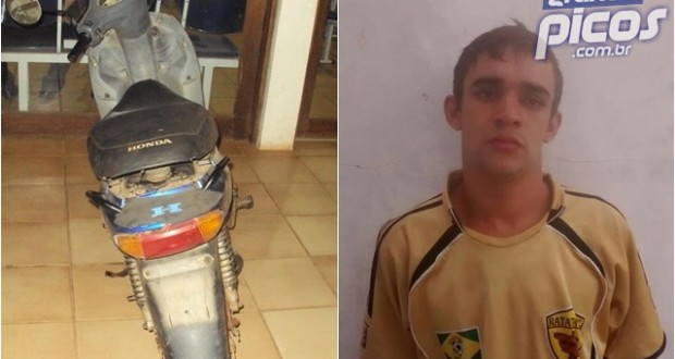 Polícia Militar prende ladrão e recupera moto no interior de Geminiano