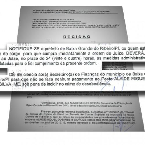 Justiça bloqueia bens de prefeito que contratou empresa do irmão no Piauí