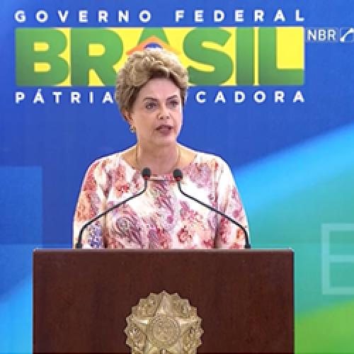 Em discurso, Dilma diz que o governo não é prisioneiro de medidas do ajuste