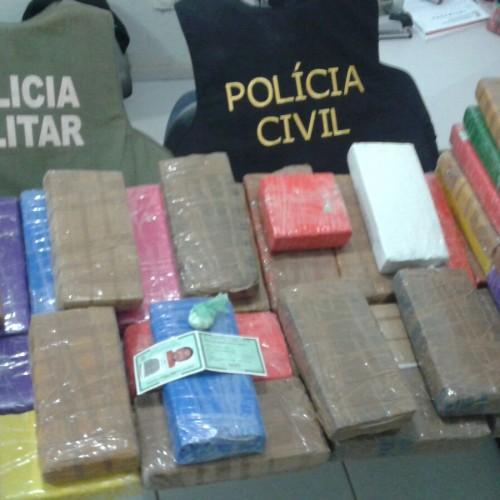 Homem é preso no Piauí com 40 kg de maconha em ônibus que vinha de São Paulo