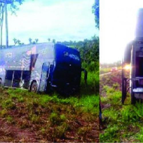 Ônibus da cantora Márcia Fellipe e Forró da Curtição sofre acidente no Maranhão