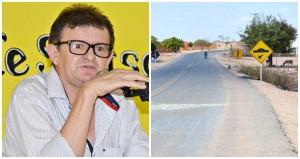 Vereador Quirino cobra a construção de lombadas no povoado Serra do Campo Grande