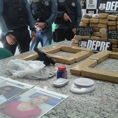 Três pessoas são presas com 66 tabletes de maconha no Piauí e Maranhão