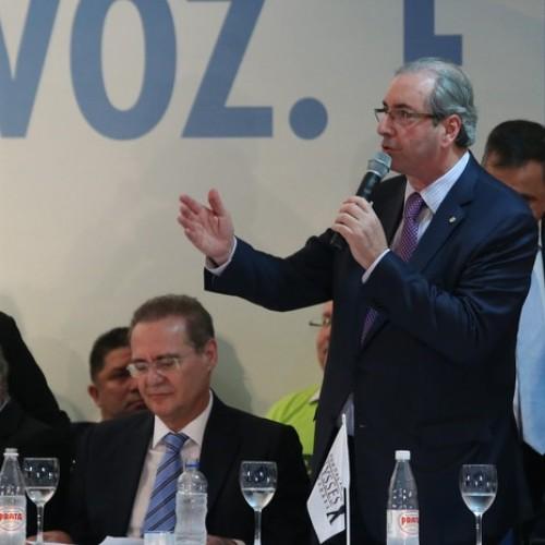 Eduardo Cunha é vaiado antes de discursar no Congresso Nacional do PMDB