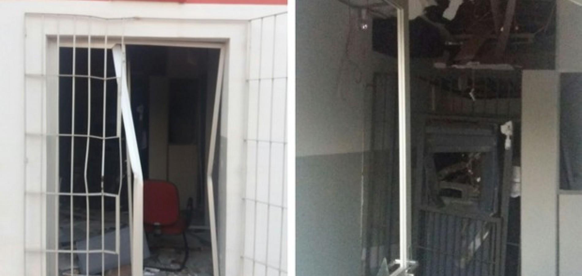 Bando fortemente armado arromba agência bancária e leva todo dinheiro no Piauí