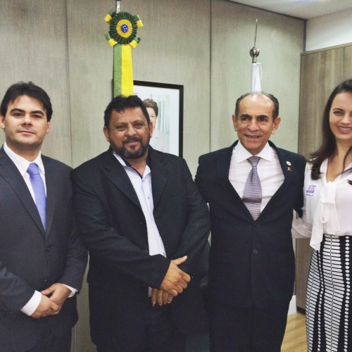 Prefeita de Belém do Piauí vai a Brasília e participa de audiência com o Ministro da Saúde
