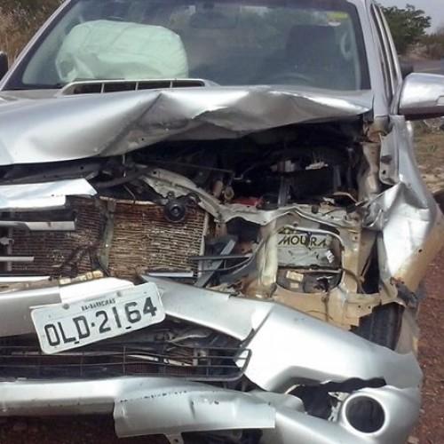 Animal na pista causa acidente com carro que transportava deputado Paes Landim