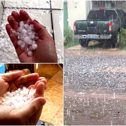 Chove granizo na tarde desta sexta-feira em  Teresina; veja fotos!