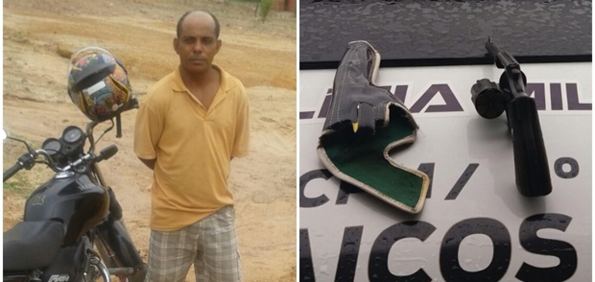 Polícia prende homem armado no interior de Jaicós