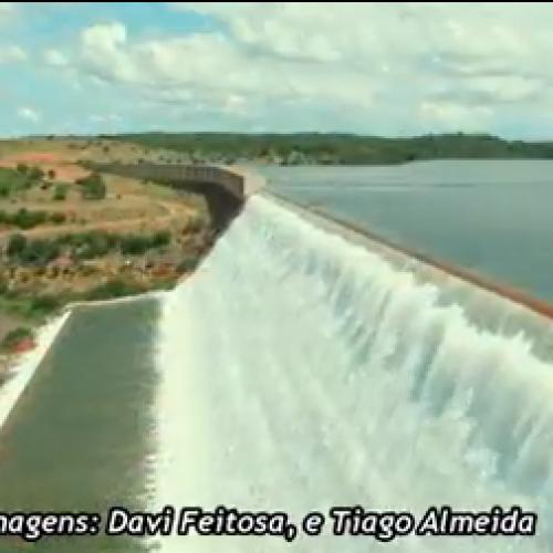 Vídeo aéreo mostra beleza da barragem Poço de Marruá, em Patos. Assista!