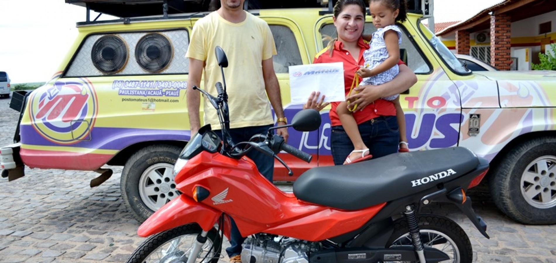 Posto Mateus realiza sorteio de moto 0 km em Jaicós