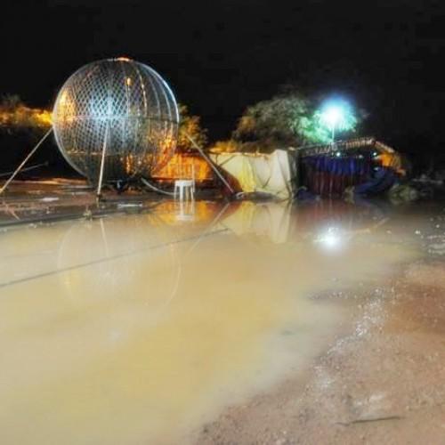 Chuva com forte vendaval destrói estrutura de circo em Simplício Mendes