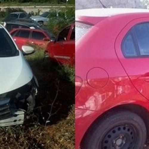 Carros roubados são abandonados após se envolverem em acidente no cruzamento das BRs 230 e 316