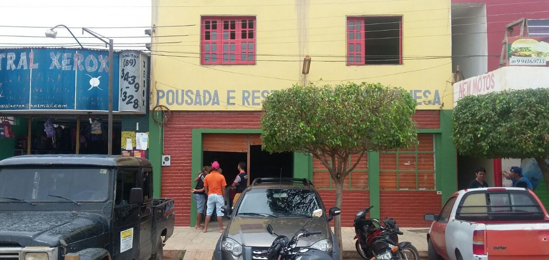 Empresário dono de pousada é assassinado em Marcolândia; acusado é preso e diz que crime foi encomendado pela esposa da vítima