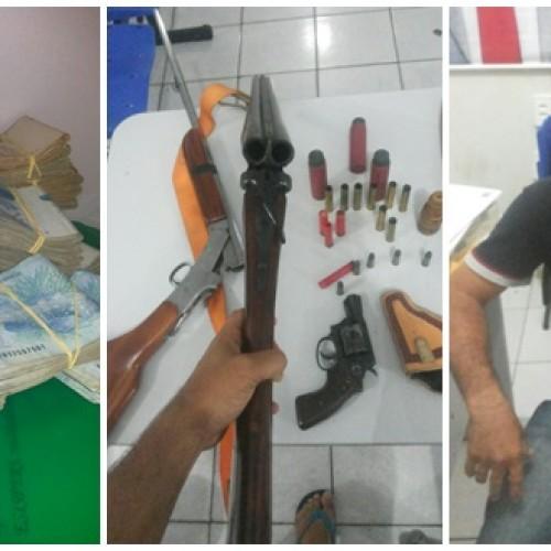 FRONTEIRAS   Polícia encontra armas e 90 mil reais em carro