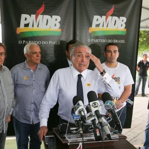 No Piauí, Michel Temer diz que PMDB  está pronto para governar o Brasil