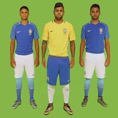 Sem lançamento oficial, CBF divulga novos uniformes da seleção brasileira