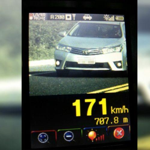 PRF flagra condutor a 171 km/h em BR do Piauí na Operação Tiradentes