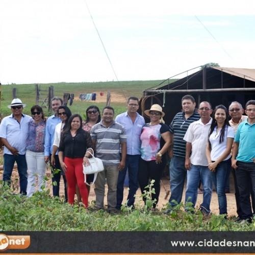 Prefeita Waldelina Crisanto e comitiva visitam 15 obras no município de Jaicós. Veja!