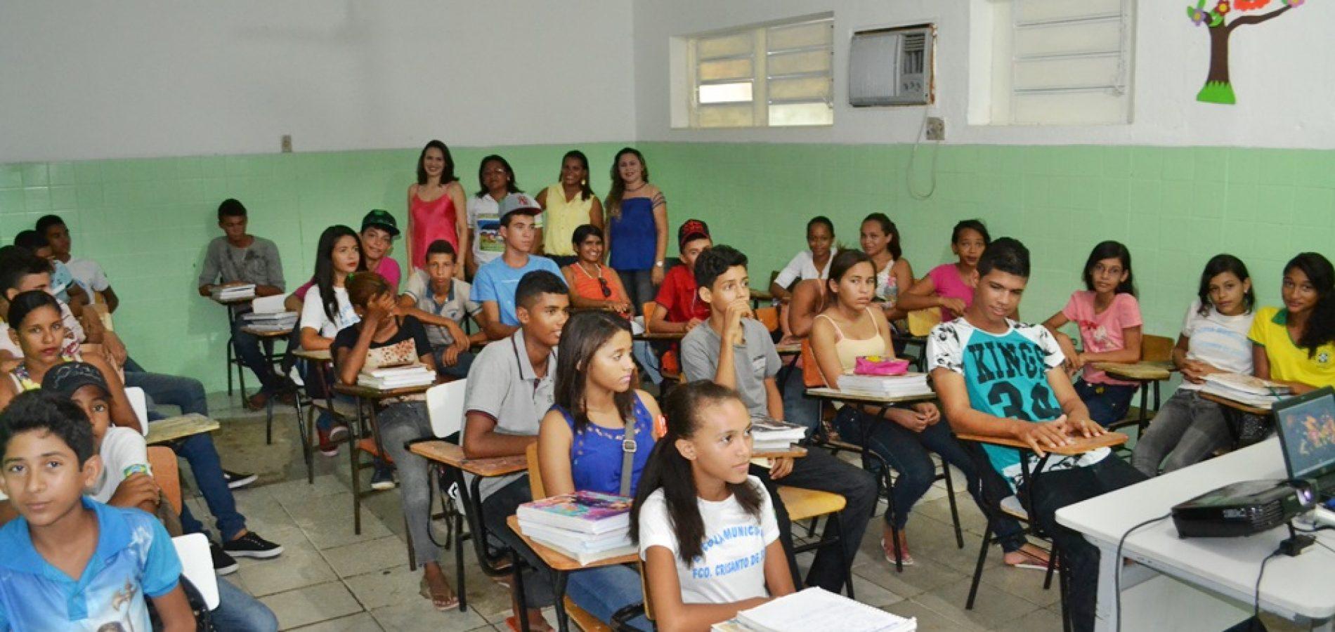 NASF de Jaicós realiza palestra sobre abuso sexual na escola Francisco Crisanto