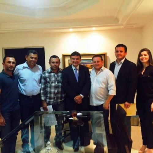 Prefeito Arinaldo Leal e Vereadores se reúnem com o Governador Wellington Dias