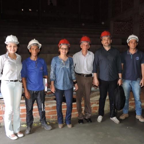 Arquitetos das Lojas Americanas e Multicine visitam obras do Picos Plaza